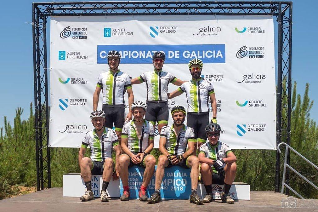 Medallas de bronce élite y fémina máster para Alberto Pedreira y Silvia García en el Campeonato de Galicia XCO 2018, Sanxenxo (Pontevedra)